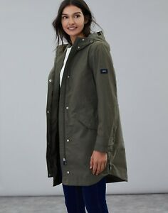 Joules-Loxley-Longline-Waterproof-Women-039-s-Coat-Grape-Leaf