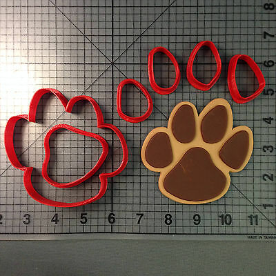 Panther Paw Cookie Cutter Set