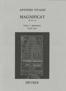 Agressif Antonio Vivaldi Magnificat Vocal Score Music Book Canto & Pianoforte Rv 610 A 611-afficher Le Titre D'origine