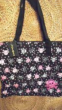 Skull Tote Bag Handbag Purse Diaper Carry All Shopper Grocery Beach Book Satch