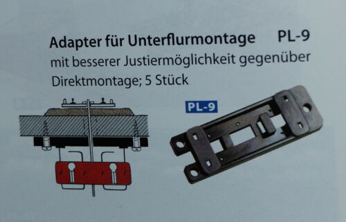 Peco pl-9 Adaptateur pour douce moteur pl-10 Unterflur montage 5 pièces