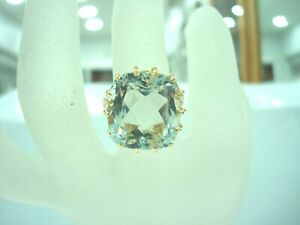 BAGUE-OR-JAUNE-18-CARATS-750-000-AIGUE-MARINE-13-Carats-7-80-GR-doigt-53-R77792