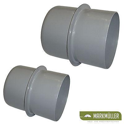 Holzmann Anschlussstück aus Metall 100mm oder 120mm für Absaugung Absaugschlauch