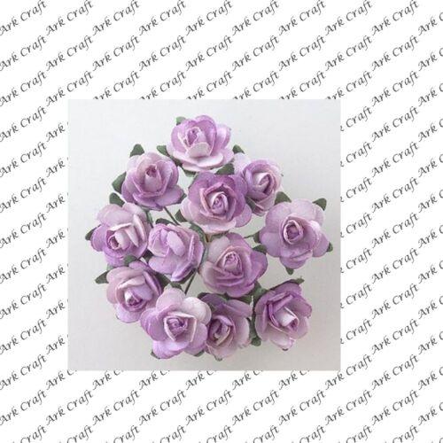 Handmade Paper Tea Roses 2 Bunches of 12 Roses B1895