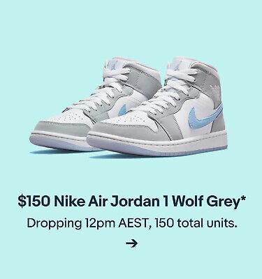 $150 Nike Air Jordan 1 Wolf Grey*