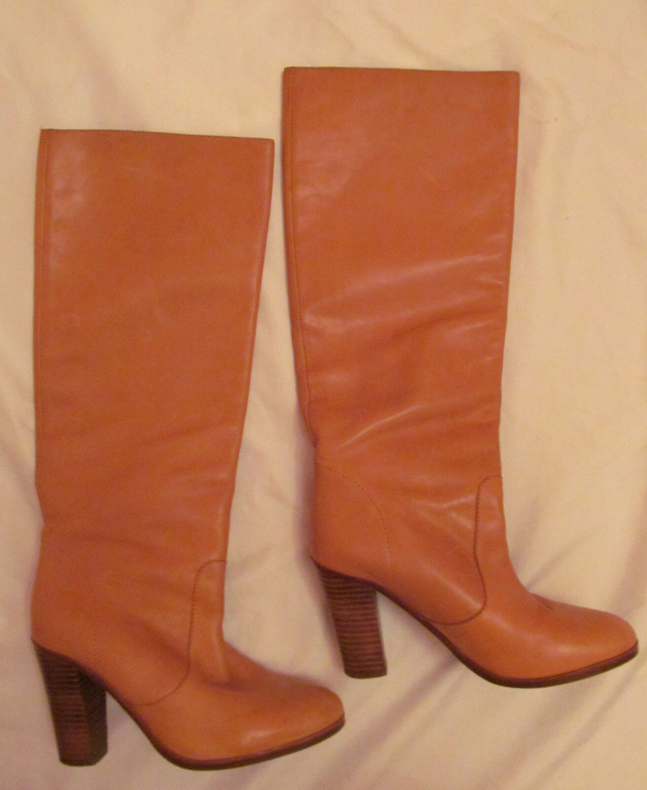 UTERQUE Stiefel buttery soft carmel Leder tall pull on Stiefel UTERQUE 38  8 M fdc23f