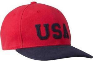 NWT Licensed USA Mens 6 Panel Snapback Baseball Hat Soccer Olympics  Sharp Lid!