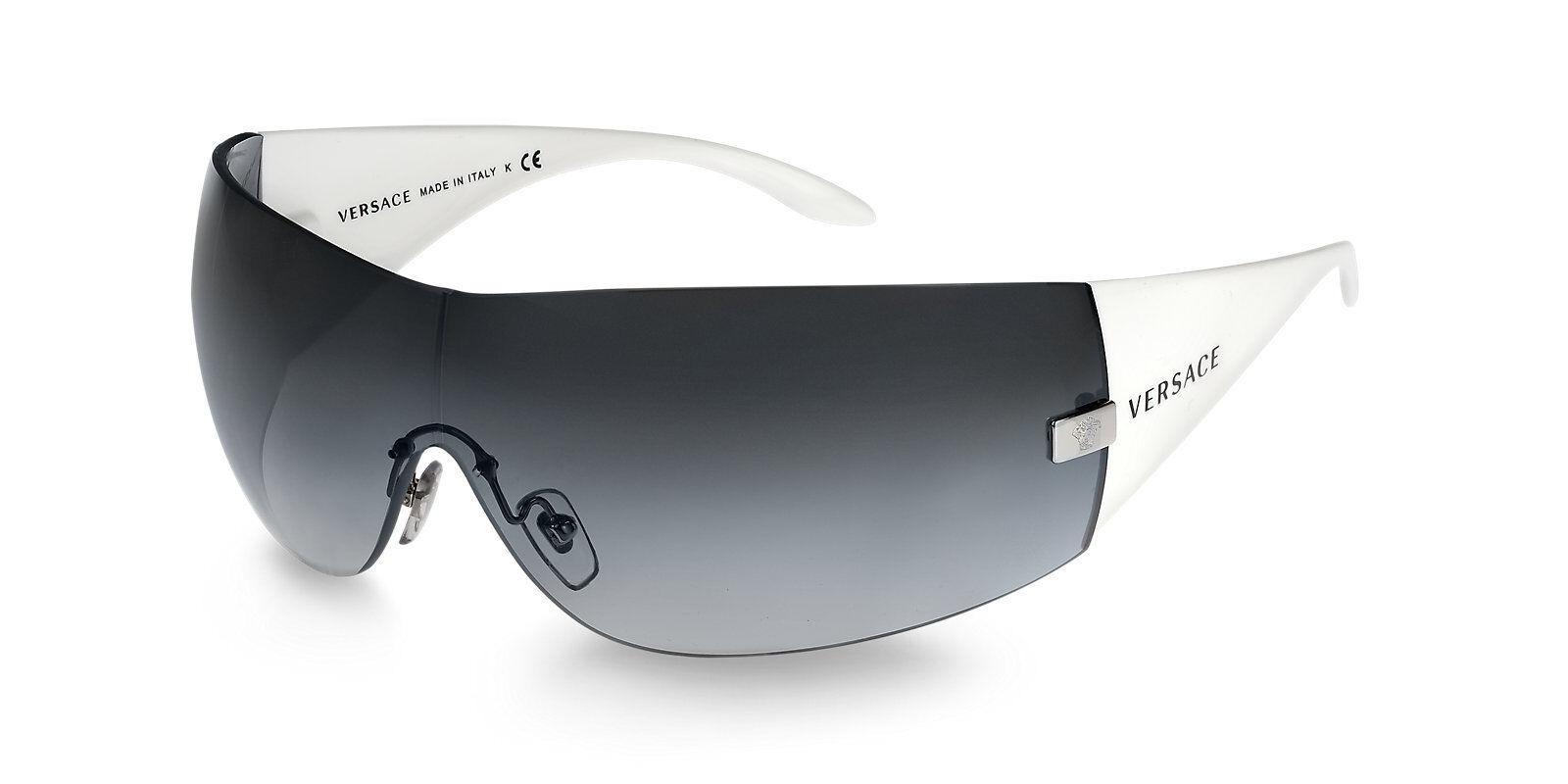 0ea9d63a56038 Authentic Versace Ve 2054 Sunglasses 1000 8g White Grey Gradient Ve2054 for  sale online