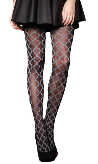 5ce96ba7c Charnos Baroque Tights. Black. Opaque. 78% Polyamide 17% Polyester 5%