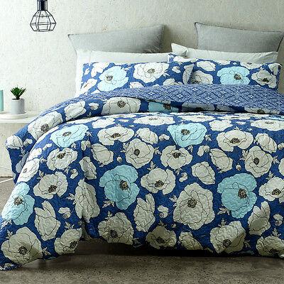 Bedding Hamptons Doona Duvet Queen, Mid Century Queen Bedspread