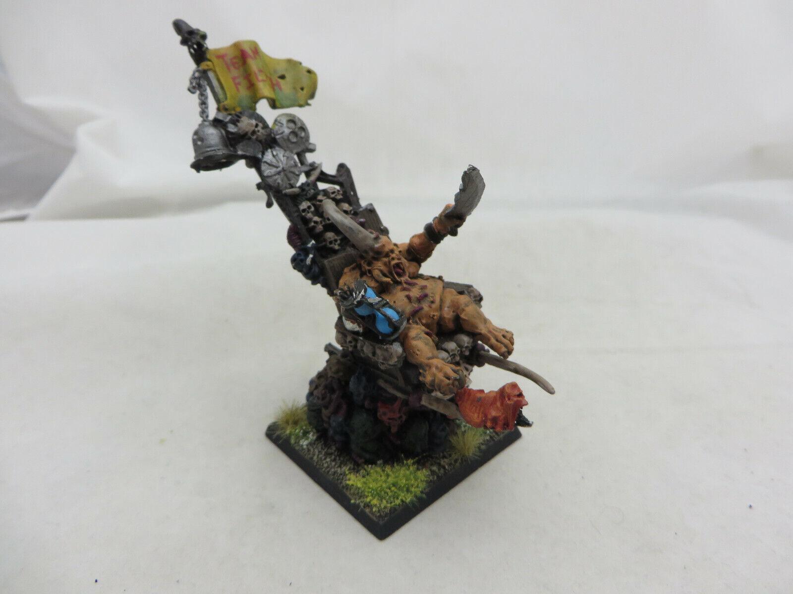 Warhammer 40K Chaos Daemon demon  Epidemius nurgle army lot metal oop painted  risposta prima volta