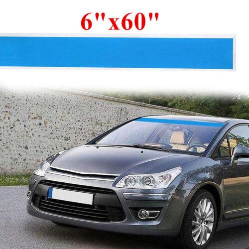 "Blue vinyl decal strip 6/""x60/"" For Car Windshield Sticker Window Visor Decor"