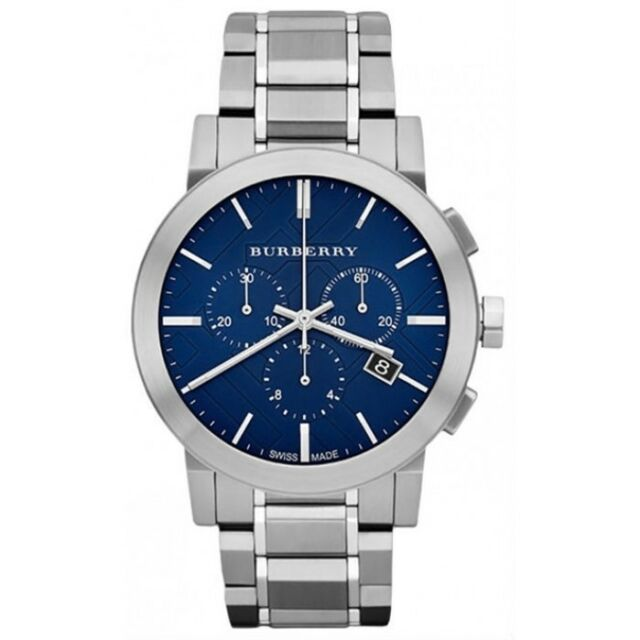 Burberry BU9363 Chronograph Blue Dial Stainless Steel Mens Watch