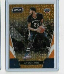 2016-17 Panini Threads Anthony Davis Orange Dazzle Shimmer SSP 24/25 - Lakers