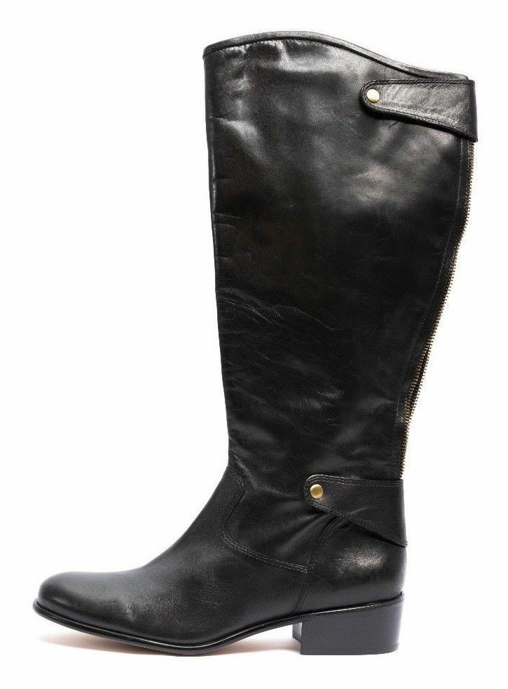 Corso Como Women's Black Leather Sussex Riding Boot Size 8.5 EC