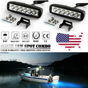2x-6INCH-36W-LED-WORK-LIGHT-BAR-SPOT-OFFROAD-ATV-FOG-TRUCK-LAMP-4WD-12V-6-034