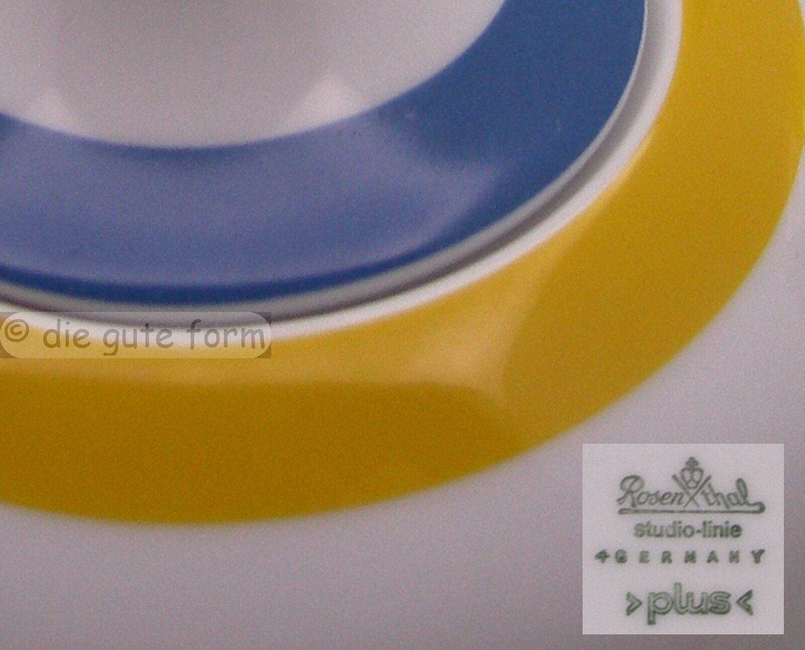 pinkNTHAL Porzellan studio-linie PLUS in yellow-blue - SERVICETEILE zum Aussuchen
