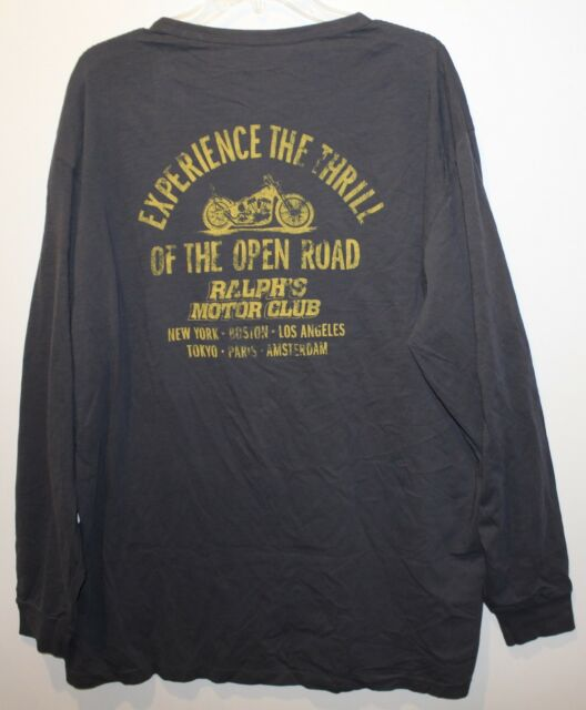 Big Club Mens T Size Ls Polo And Ralph Xlt Lauren Motor Shirt Tall Black SpMUVz