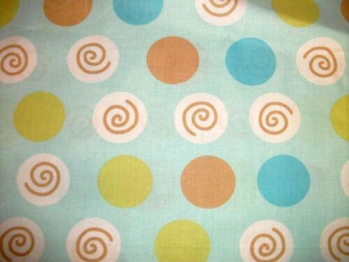 Coupon tissu Bleu Imprimé  60x40cm