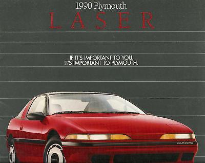 1990 Plymouth Laser Sales Brochure Book Catalog