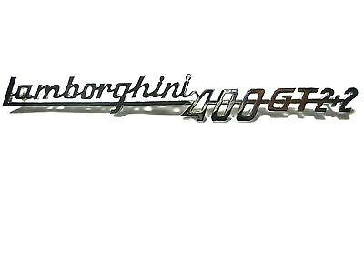 stemma scritta LAMBORGHINI 400 GT 2+2 215mm cromata sign badge emblem logo