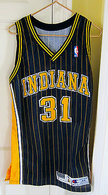 REGGIE MILLER AUTOGRAPHED 1997-1998 INDIANA PACERS GAME WORN  JERSEY #31