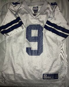 3dfec399bf3 Tony Romo Dallas Cowboys Reebok #9 NFL Football White Jersey SIZE ...