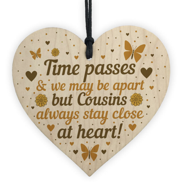 Cousin Gifts For Birthday Christmas Wooden Heart Plaque Family Friendship Gift Sale Online