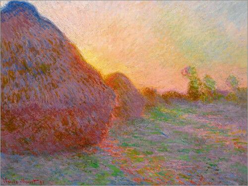 Premium-Poster Heuschober Claude Monet