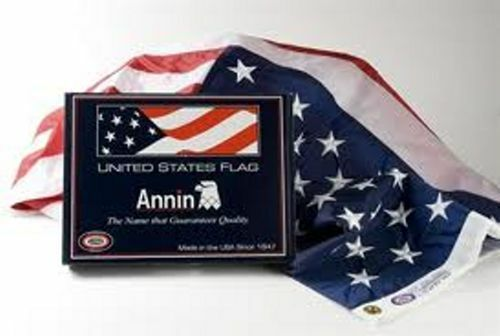 ANNIN® Nyl-Glo® 10/' x 15/' Colorfast Made in the USA American Flag # 02340