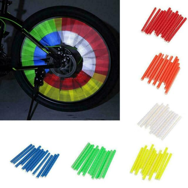 12Pcs Bike Bicycle Wheel Spoke Reflector Reflective Tube Clip Mount M6H8