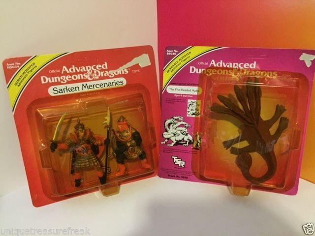 ADVANCED DUNGEON DRAGONS ACTION FIGURES SARKEN MERCENARIES FIVE HEADED HYDRA TSR