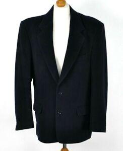 De-Coleccion-chaqueta-blazer-para-hombre-de-lana-de-cachemira-suave-caliente-Smart-Clasico-Azul