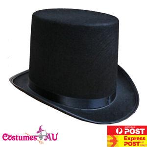 061761cd7 Boys Black Satin Top Hat Magician Wedding Tuxedo Kids Ring Master ...