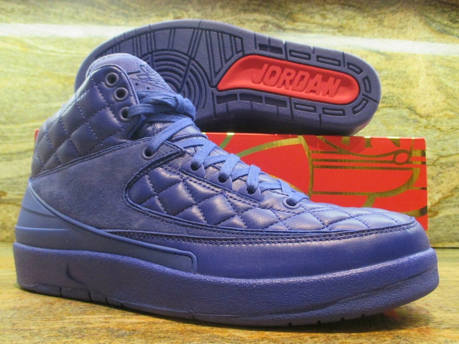 2015 Nike Air Jordan 2 II Retro Just Don Don Don C SZ 11 Quilted blu LUX QS 717170-405 f7ba58