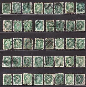 #36 x 40  - Canada - 1872 - 2c Small Queens - Used - F/VF  superfleas - est$80