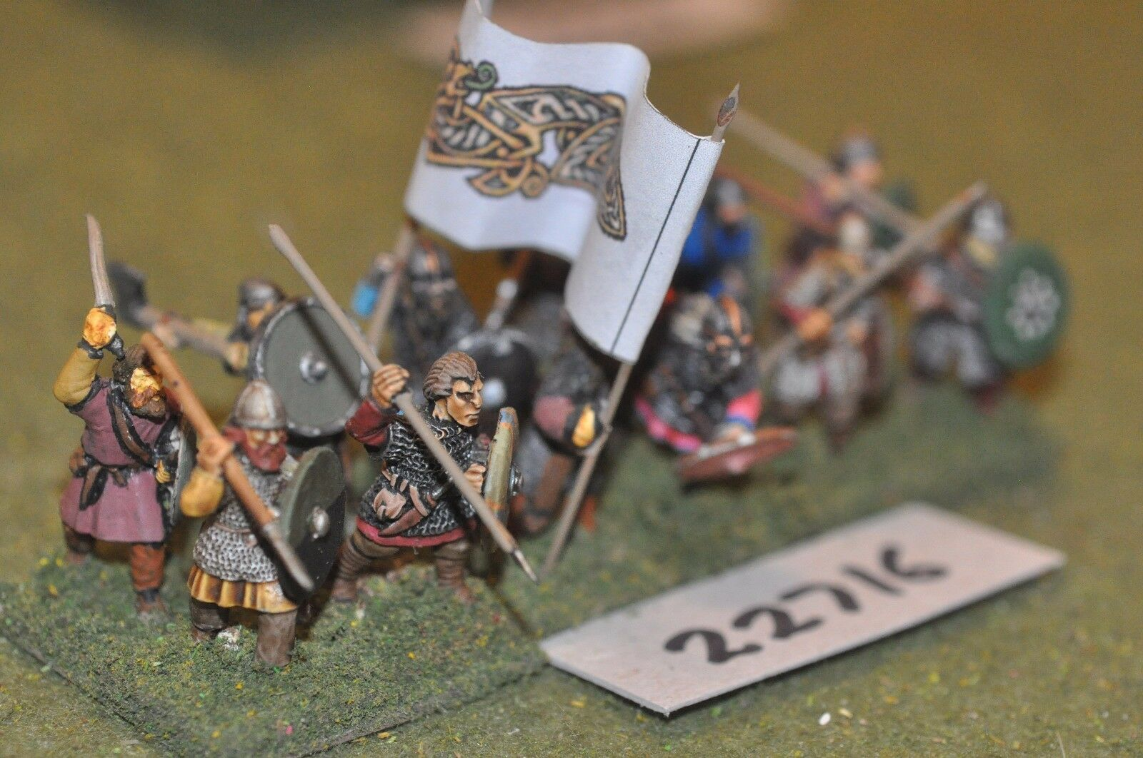 25mm dark ages   viking - spearmen 12 figs inf - inf (22716)
