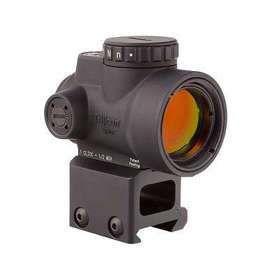 Trijicon 1x25mm MRO 2.0 MOA  Red Dot Sight & High Mount Black - MRO-C-2200006