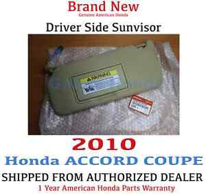 Image is loading 2009-2010-Honda-ACCORD-COUPE-Driver-Side-Sunvisor- 2abc9dac258