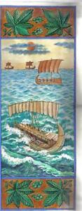 Jonah Scroll PARCHMENT Art Ms. Yom Kippur Wedding Bar Mitzvah Gift Hebrew Bible