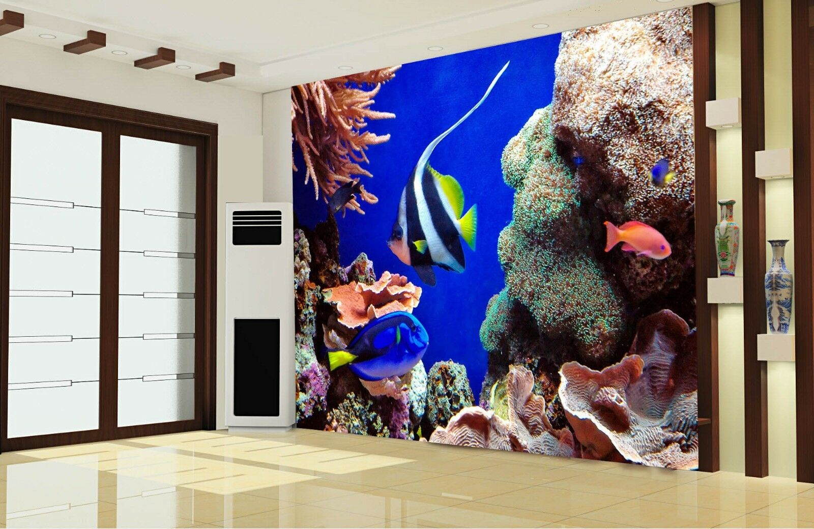 3D blueer Ozeanfisch 58 Tapete Tapeten Mauer Foto Familie Tapete Wandgemälde DE