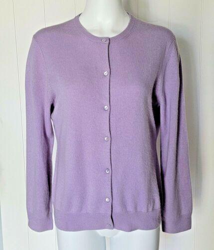 Neiman Marcus 100% Cashmere Lilac Purple Cardigan… - image 1