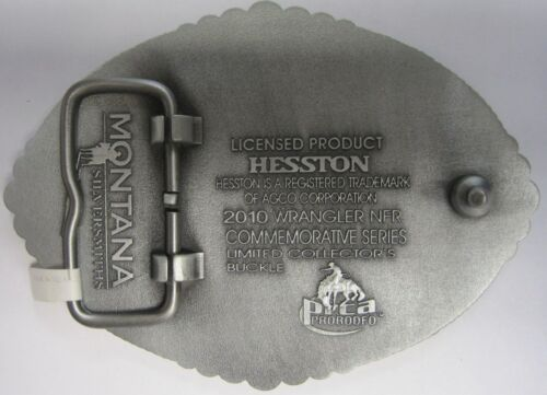 National Finals Rodeo Hesston 2010 NFR Adult Cowboy Buckle New AGCO PRCA Vegas