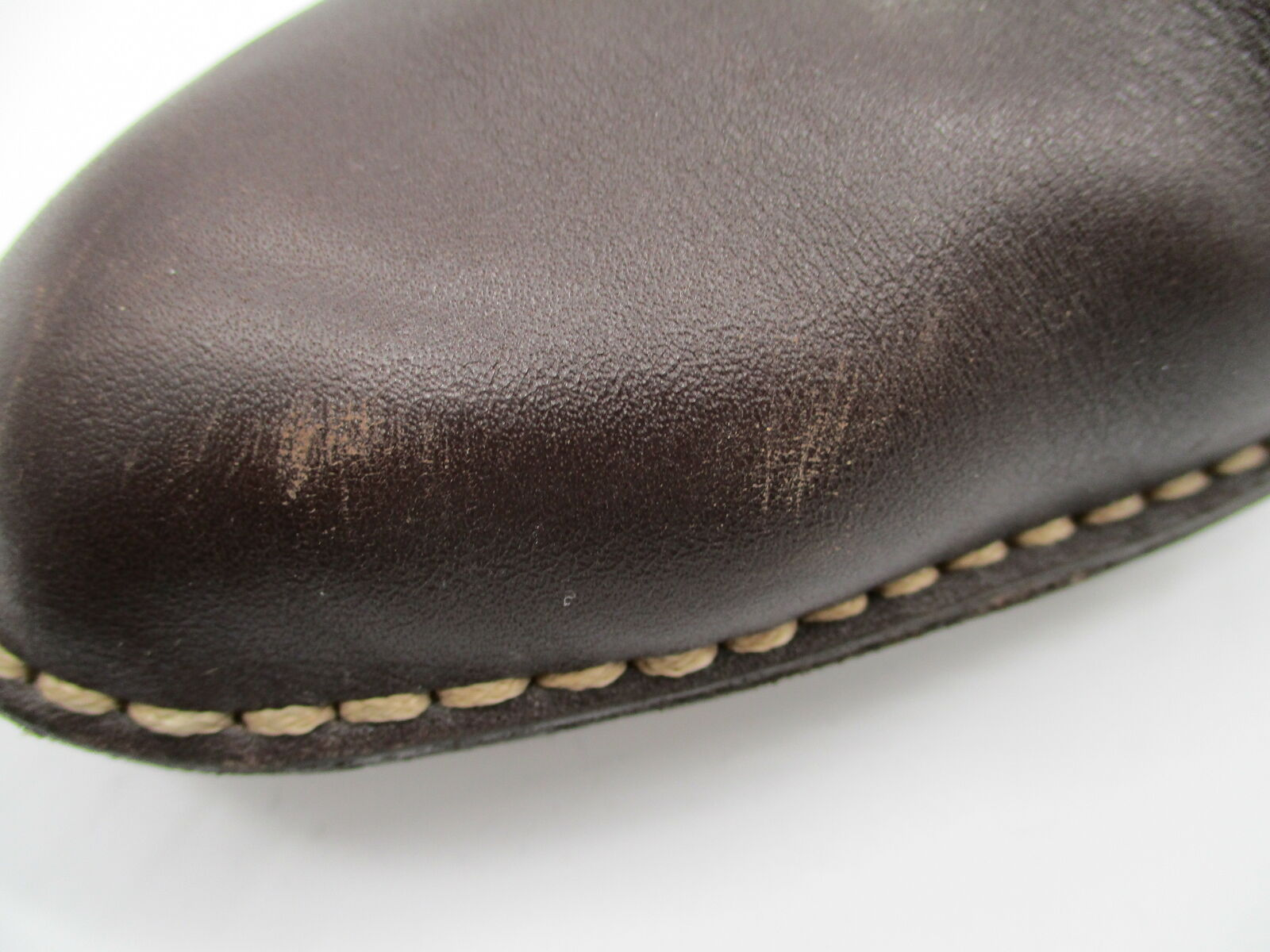 TODS brown leather block heel mules sz 40.5 - image 9