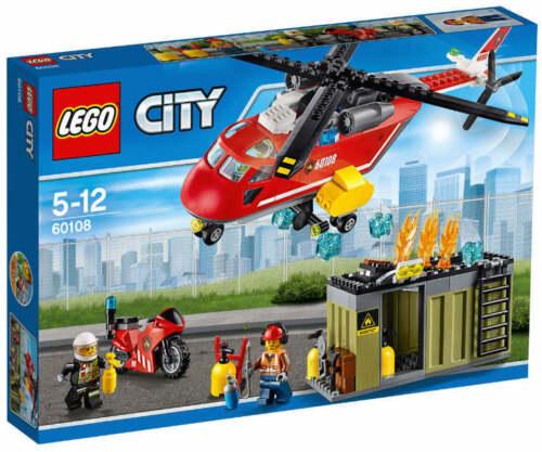 NEU LEGO® CITY 60108 City Feuerwehr Löscheinheit NEU OVP Motorrad Hubschrauber