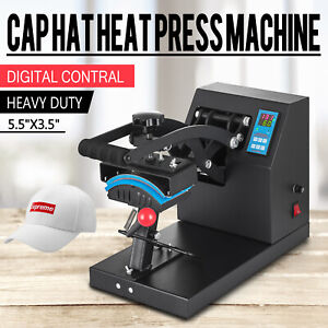 "7""x3.5"" Digital Hat Heat Press Machine Sublimation Transfer Print Golf Cap DIY"