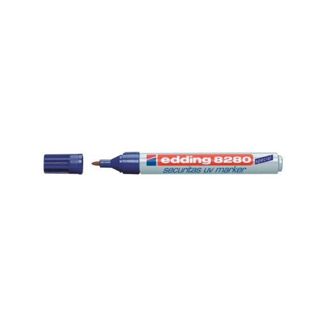 1x edding 8280 Security UV Marker Pen 1.5-3.0mm Ultraviolet Safety NEW Sealed