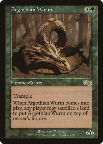 Argothian Wurm Urza/'s Saga PLD-SP Green Rare MAGIC THE GATHERING CARD ABUGames