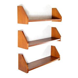 3-Retro-Vintage-Danish-Teak-Wall-Shelving-System-Book-Shelves-Bookcase-60s-70s