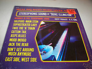 REAL-BIG-BAND-MUSIC-LIVES-AGAIN-DUKE-ELLINGTON-LP-NM-Bright-Orange-XBO709